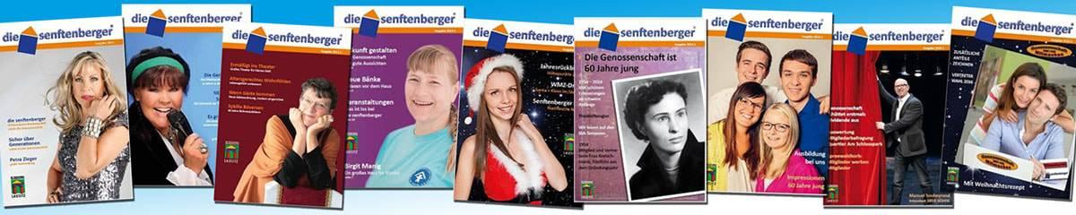 Eine Reihe an Magazinen der Senftenberger.